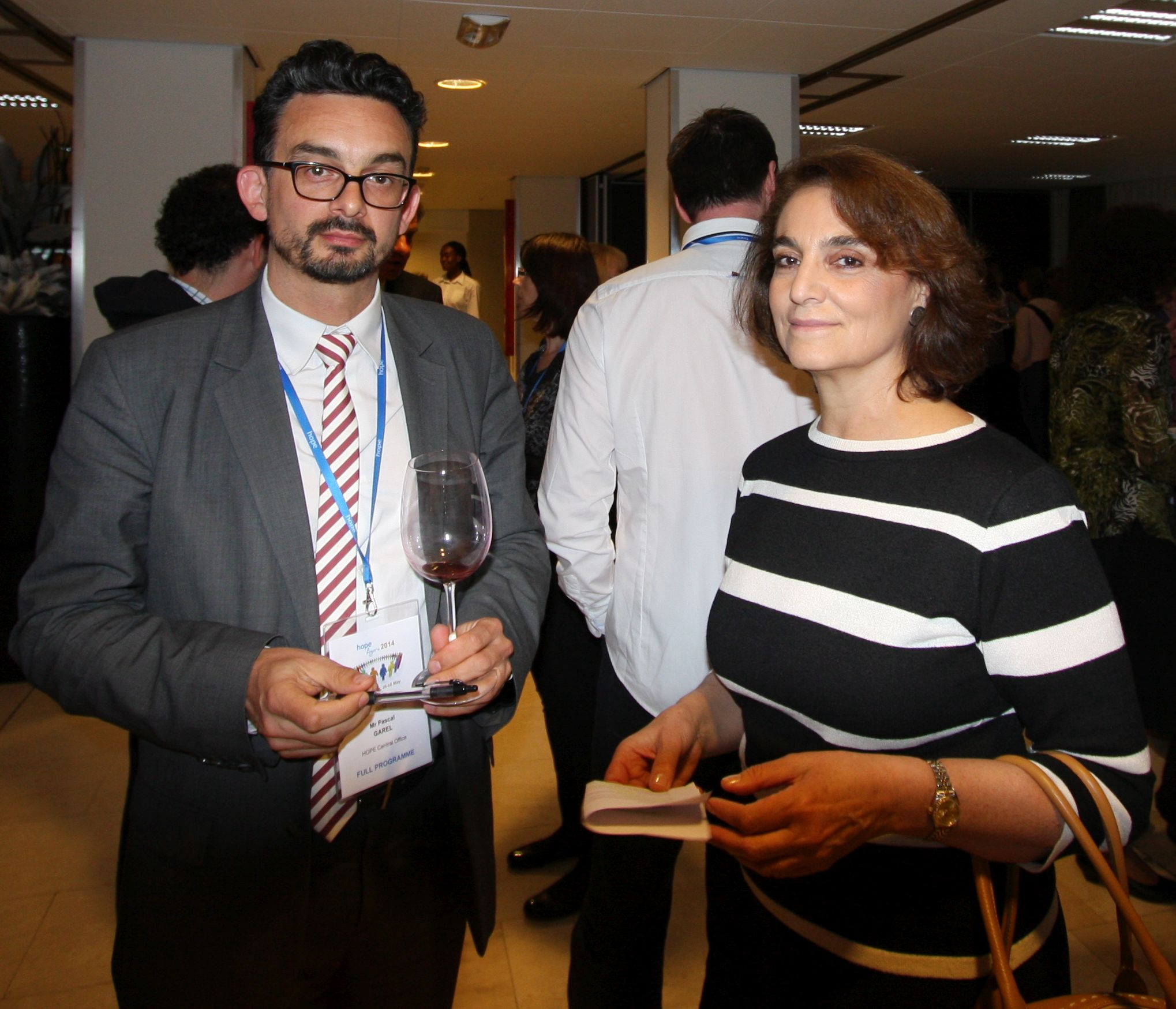 Pascal Garel (CEO) and Sara Pupato (President)